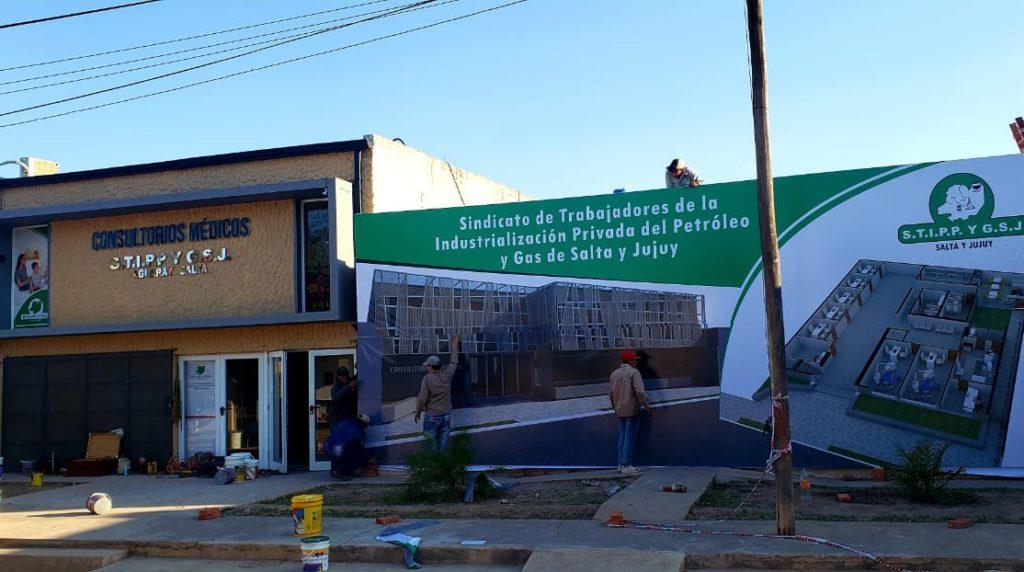 Inauguracion consultorios médicos en el Sindicato de Petroleros en la ciudad de Aguaray.